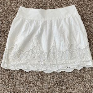 White cotton skirt